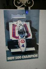 TOM SNEVA TEXACO STAR INDY 500 CHAMPION  1983 PROMO POSTER  15 X 23 COLOR IMAGE