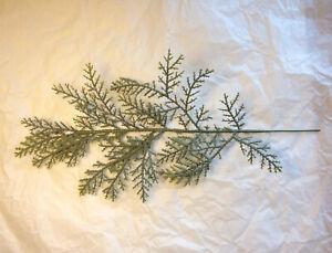 Artificial Faux Sage Color Cedar Pine Stem Pick Branch Spray Filler USA SELLER