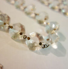 3FT vintage Crystal Glass Prism garland strand Lamp design repair Part brass pin