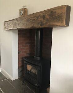 "Wooden mantle mantel fire surround floating shelf beam lintel timber 7"" x 3 """