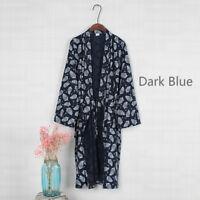 Men Japanese Pyjama Suit Cosy Yukata Jinbei Hippari Kimono Nightwear Summer Soft
