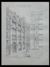 PARIS, 10 RUE DU FAUBOURG POISSONNIERE - 1900 - 2 PLANCHES - AUGUSTE PERRET