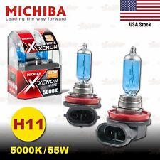H11 711 MICHIBA 12V 55W 5000K Xenon SUPER WHITE Halogen HeadLight Bulbs LOW BEAM