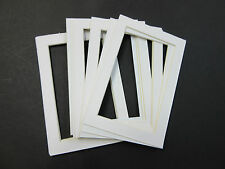 Picture Framing Mats 4x6 for 3.5x5 photo set of 6 White acid free