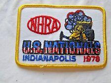 NHRA 1978 Original US NationalsIndianapolis Indiana DragRacing Event Patch
