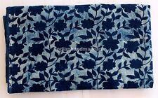 5 Yard Hand Block Print Nature indigo Blue Cotton Design Dabu Print fabric