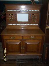 Antique Snooker Billiards Scoreboard / Cabinet Cox & Yeman London Lt.Col Bryant