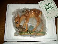 Nature'S Mirror Deer Fawn Susan C. Eaton Franklin Mint Porcelain Figurine 1988