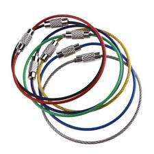 20pcs Metal Stainless Steel Wire Ropes Carabiner Key Hanging Cable Edc Tool C#P5