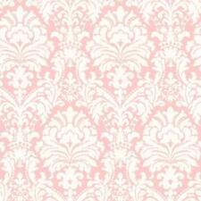 Wallpaper Pink and Eggshell White Damask
