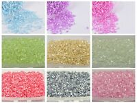 5000 Glass Tube Bugle Seed Beads 2X2mm Ceylon + Storage Box Pick Your Color