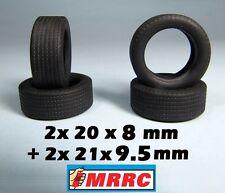 MRRC TYRES 20x8 + 21x9,5 PORSCHE 910 CHAPARRAL 2C/2F GT40 MKIV - REVELL MONOGRAM