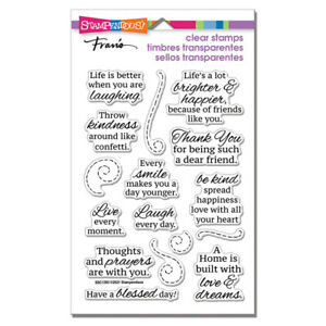 Sentiments & Sayings LAUGH CLEAR Rubber Stamp Set STAMPENDOUS SSC1393 New