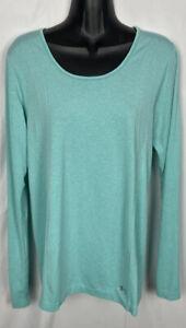 Under Armour Women's Aqua Blue Threadborne Seamless Long Sleeve Shirt Sz Large