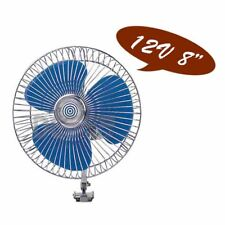 "12V Oscillating FAN - 8"" 200mm Blade / Dual Speed for Car, Truck, Caravan, Boat"
