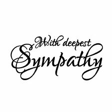 With Deepest Sympathy - UNMOUNTED rubber stamp, fancy script #23