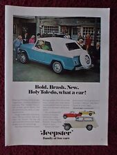 1967 Print Ad Jeep Jeepster ~ Family of Fun Cars Commando Station Wagon Roadster