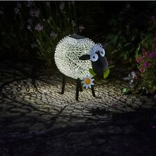 Solar Powered Dolly the Sheep Metal Garden Animal Colour Changing Lights Decor