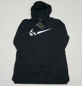Nike Boys Youth Long-Sleeve Hooded Training Top Black CU9006-010