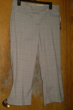 Bobby J. Tan with Pink Small Plaid Cropped Pants/Capris Size 10 NEW with Tags