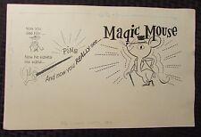 Vintage MAGIC MOUSE Title Cartoon Comic Strip Original Art  & Negative 14x9 FN