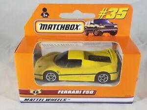 Matchbox German Exclusive Boxed #35 Ferrari F50 - Yellow Body / Rare & HTF
