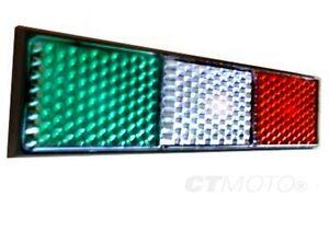 Ducati Italian Flag Reflector - 748 - 1098, Hypermotard, diavel, 1199 panigale