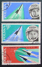 POLAND 1963: MANNED SPACE FLIGHTS: SECOND TEAM: 3 MLH WITH PRECANCEL