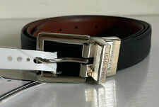 NEW! NINE WEST TWIST REVERSIBLE BLACK BROWN LEATHER BELT LARGE EXTRA LARGE L XL