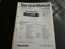Original Service Manual  Panasonic RX-FW29L