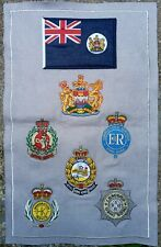 More details for unusual hong kong embroidered badge presentation piece pre 1997? royal police