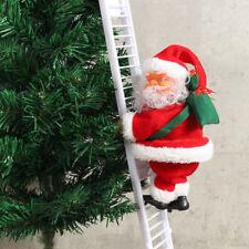 Hot Musical Climbing Ladder Santa Claus Xmas Figurine Ornament Decoration toy