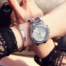 Rose Gold Hannah Martin Top Luxury Brand Women Rhinestone Wristwatches Montre Fe