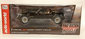 1/18 1977 Pontiac Firebird Trans Am Black Auto World AMM1177 New
