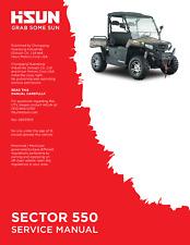 Hisun HS Sector 500 550 UTV Service Owners & Parts CD