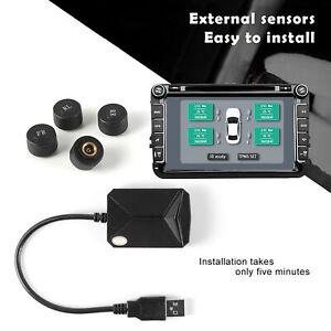 USB Android Display TPMS Tire Pressure Monitoring System External Sensors MA2116