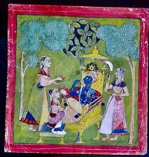 Indian, Hindu, Mughal, painting, antique