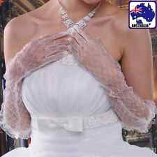 Women Ladies White Long Lace Gloves Elbow Wedding Bridal Prom Costume CGLO 32100