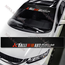 Ralliart Windshield Carbon Fiber Banner Decal Sticker For Mitsubishi EVO Eclipse