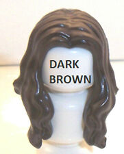 Lego Hair Long Wavy with Center Part x 1 Dark Brown for Minifigure