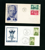 US Lot of 4 Scarce WWII First Day Stamp Covers 3 Unaddressed