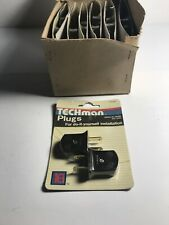 12-lot NEW Techman Plugs Light Plugs Pack of 2 Brown - Lot Of 12 Packs Of 2 Each
