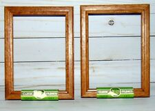 "A pair of New Shadowbox Honey Oak frames 5"" x 7"""