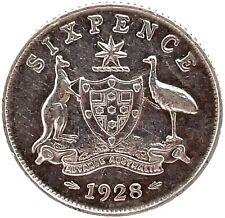 AUSTRALIA  Silver 1928  George V  6 Pence Sixpence  KM# 25.