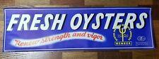 Original Vintage 1950s Fresh Oysters Paper Advertising Sign-Label