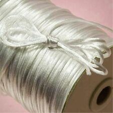2mm Nylon Satin Chinese Knot Cord Macrame Rattail Braided kumihimo 10yd  white
