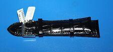 Croco Venatura Cinturino Orologio 24mm-Nero