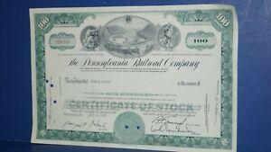 1964 THE PENNSYLVANIA RAILROAD PRR COMPANY STOCK CERTIFICATE