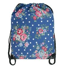 581f6de56d15 Canvas Sport Backpack Drawstring Casual Shopping Swimming Gym Bag Flower  Print