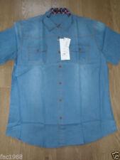 Camisas casuales de hombre azul vaquero